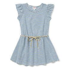 Stripe Rope Tie Dress