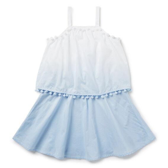 Dip-Dye Pom Pom Dress