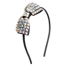 Square Gem Bow Headband