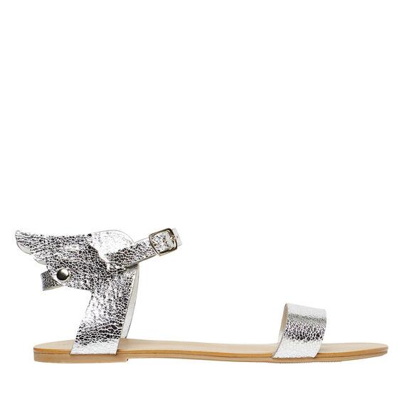 Metallic Winged Sandal