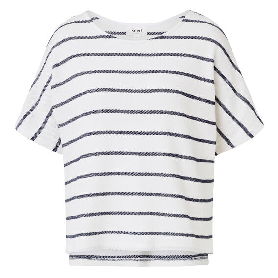 Easy Textured Stripe Top