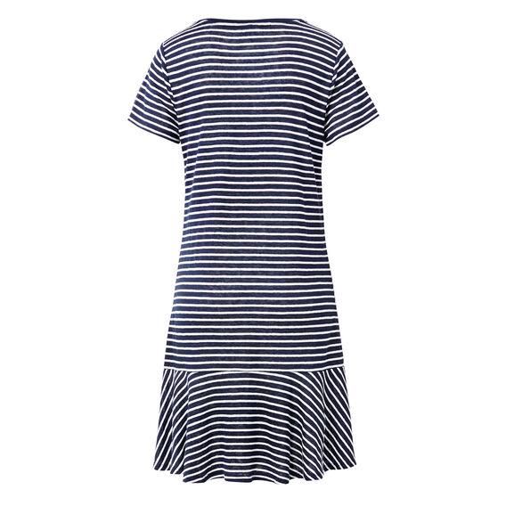 Drop Frill Linen Dress