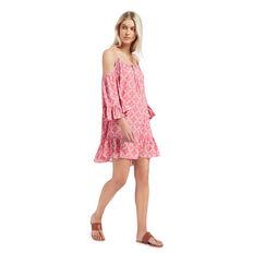 Print Cold Shoulder Dress