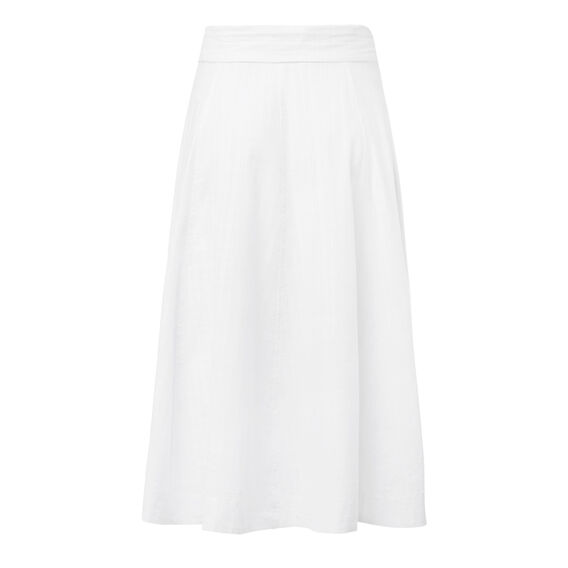 Buttoned Tie Maxi Skirt