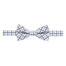 Blue Grid Bow Tie