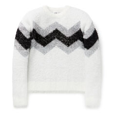 Chevron Lurex Sweater