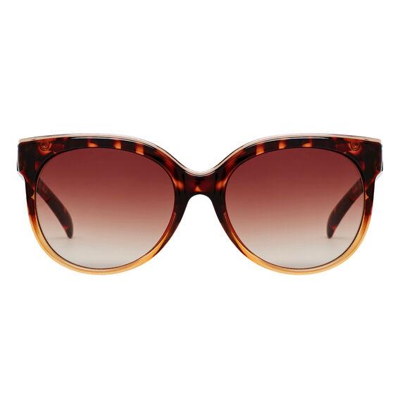 Metal Trim Cats Eye Sunglasses