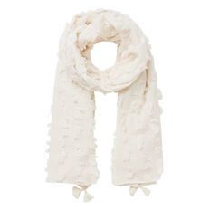 Flocked Tassel Scarf