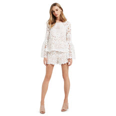 Lace Frill Sleeve Blouse