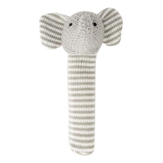 Stripe Elephant Rattle