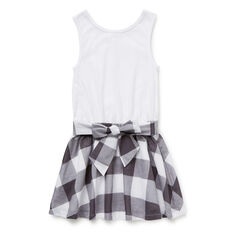 Gingham Splice Dress