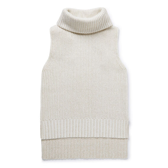Lurex Roll Neck Sweater