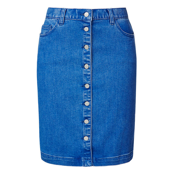 Button up Denim Skirt