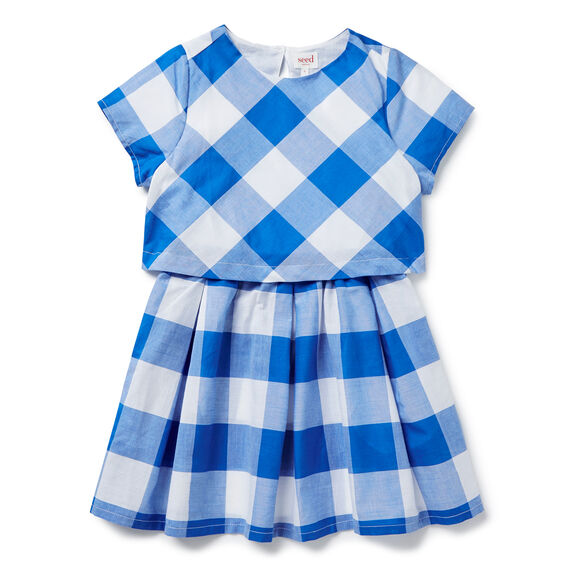 Gingham Double Layer Dress