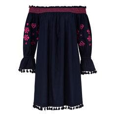 Aztec Pom Pom Dress