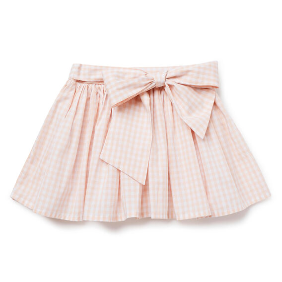 Gingham Bow Skirt