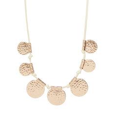 Suede Disc Necklace