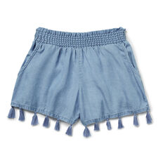 Chambray Tassel Short