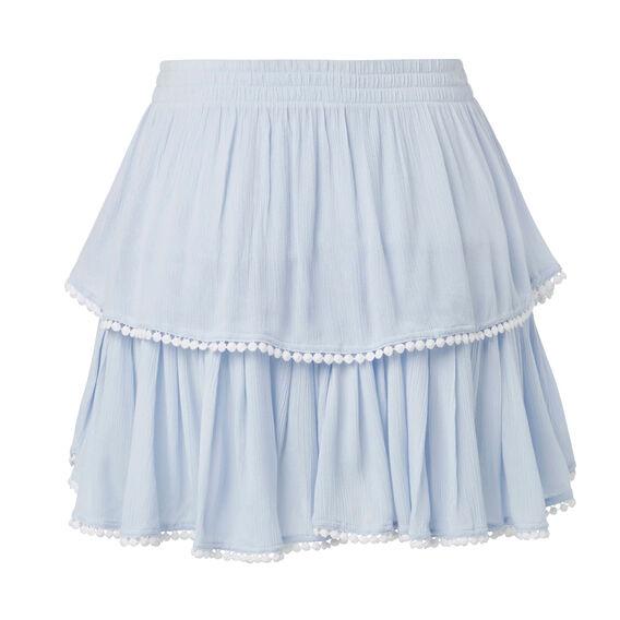 Pom Pom Trim Skirt