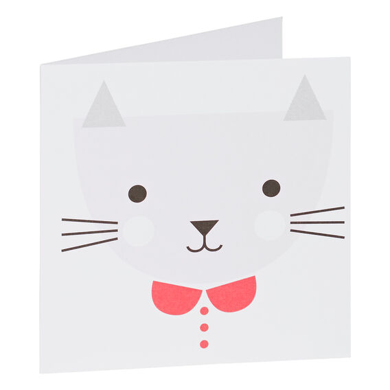 Pink Cat Card