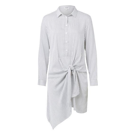 Soft Stripe Shirt Dress