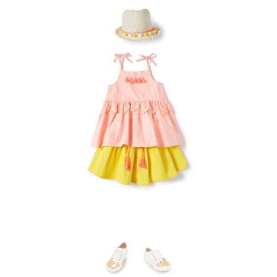 Textured Pop Trim Skirt
