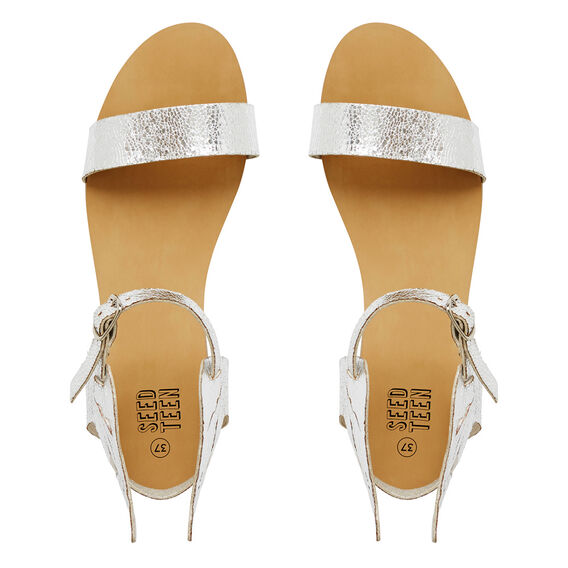 Metallic Winged Sandal