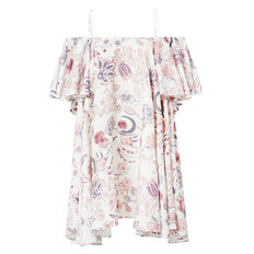 Printed Frill Dress