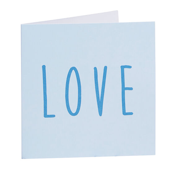 Blue Love Card