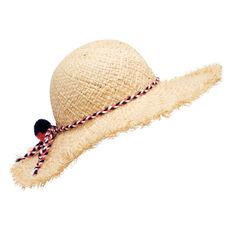 Frayed Floppy Straw Hat