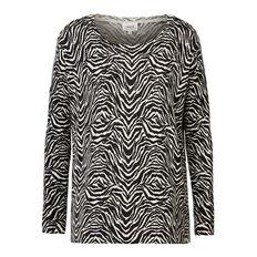 Zebra Print Sweater