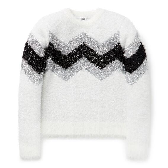 Chevron Lurex Sweater