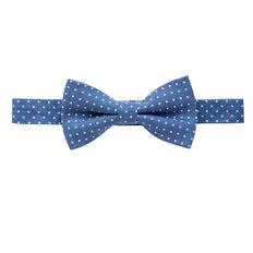 Chambray Spot Bow Tie