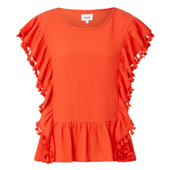 All Over Frill Crinkle Top