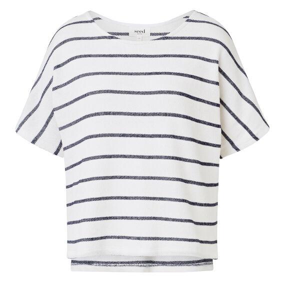 Easy Textured Stripe Top