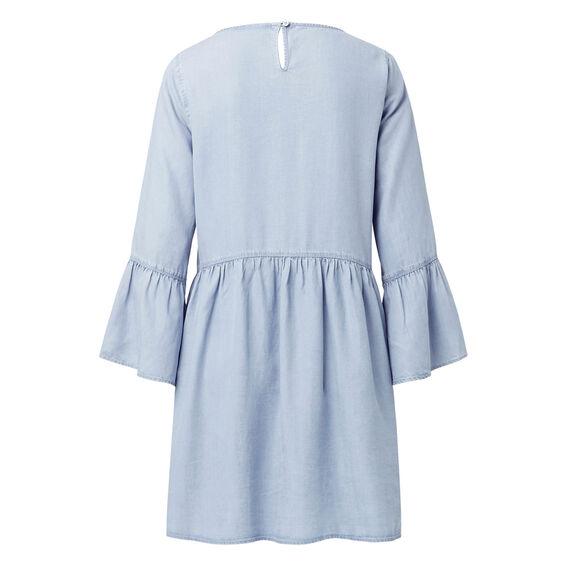 Tencel Frill Sleeve Dress