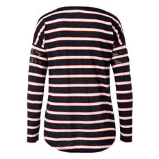 Sequin Stripe Long Sleeve Tee