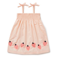 Strawberry Embroidered Dress