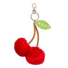 Cherry Pom Pom Bag Charm