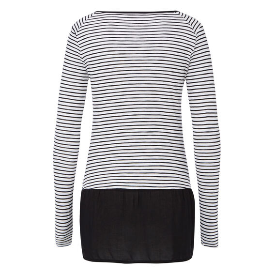 Splice Stripe Long Sleeve Tee