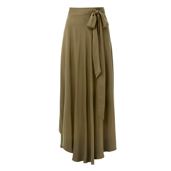 Olive Wrap Skirt