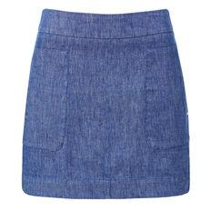 Twill A-line Skirt