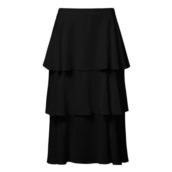 Tiered Flare Skirt