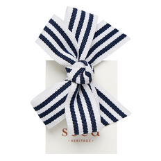 Stripe Bow Clips