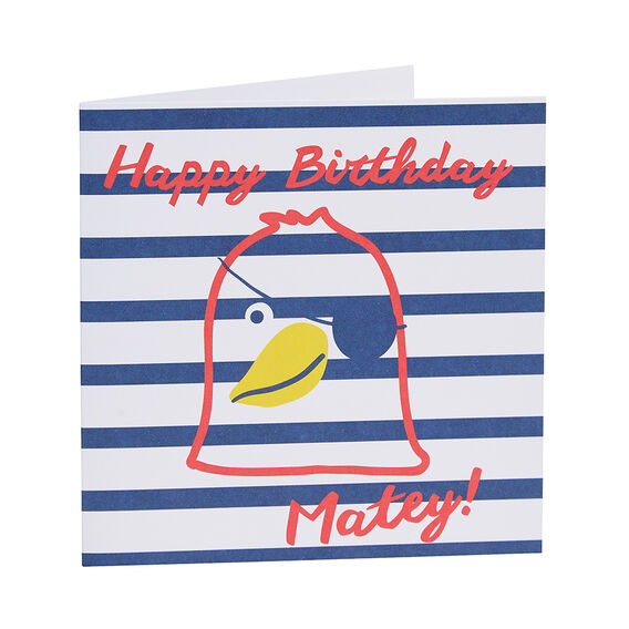 Happy Birthday Matey Card