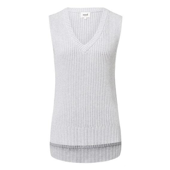 V-Neck Sleeveless Knit