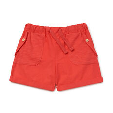 Woven Spliced Short