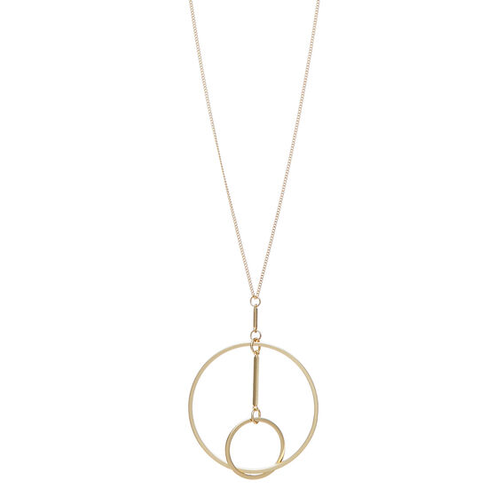 Interlocked Circle Necklace