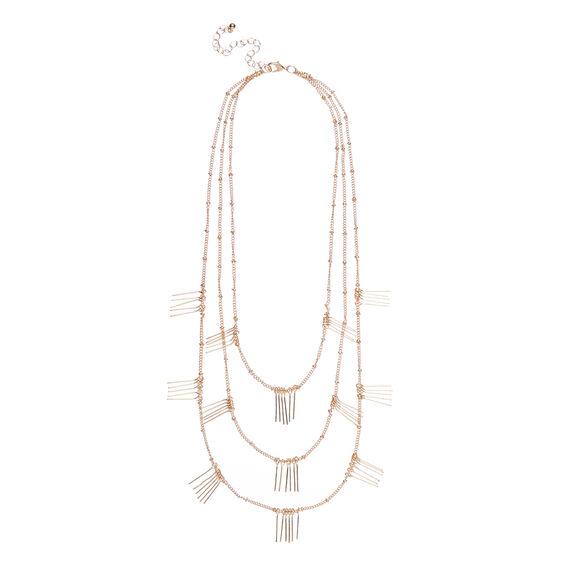 Fringed Layered Necklace