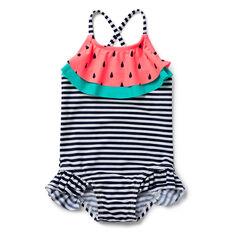 Watermelon Stripe Bather
